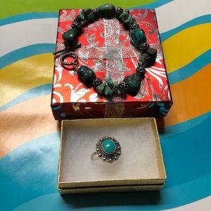Turquoise Bracelet & Ring Set